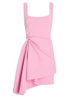 Acler Clarke Draped Neoprene Mini Dress