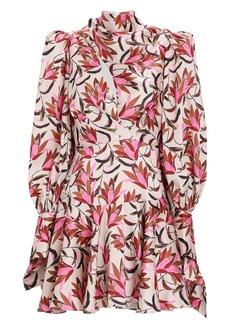 Acler Coleman Floral Satin Mini Dress
