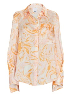 Acler Coleman Marble Satin Blouse