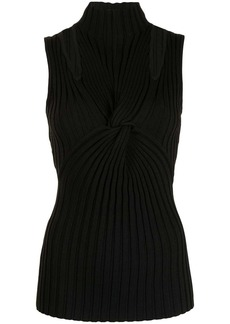 Acler Collins twist-front ribbed top
