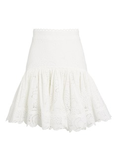 Acler Cookes Lace Flounce Mini Skirt