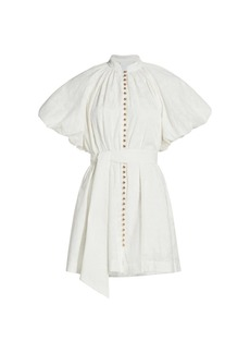 Acler Derby Puff-Sleeve Mini Dress
