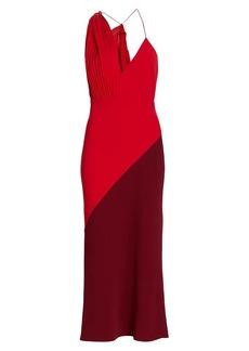 Acler Flora Colorblock Strappy Midi Dress
