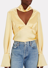 Acler Florence Satin Cut-Out Blouse