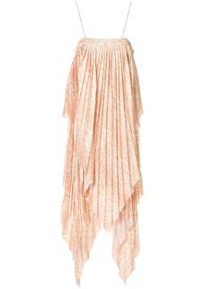 Acler Hooper snakeskin-print pleated dress