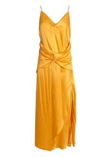 Acler Portland Twisted Satin Dress