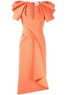 Acler Redwood ruffled midi dress