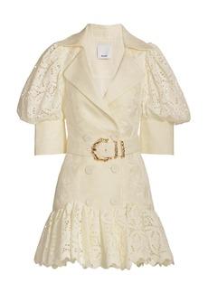 Acler Sierra Belted Puff-Sleeve Dress