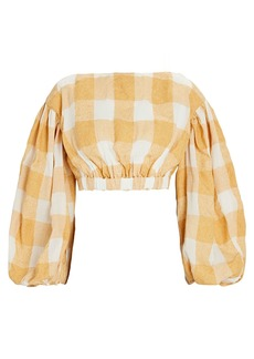 Acler Sutherland Gingham Crop Top