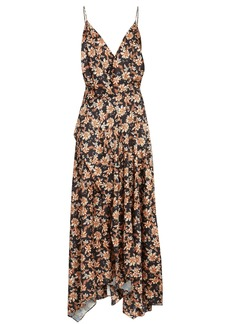 Acler Vales Floral Sleeveless Midi Dress