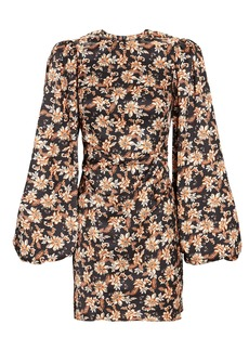 Acler Waterman Balloon Sleeve Floral Dress