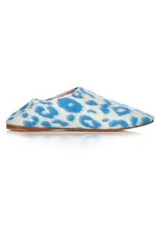 Acne Studios Agata backless leopard-print felt slipper shoes