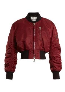 Acne Studios Aila cropped padded bomber jacket