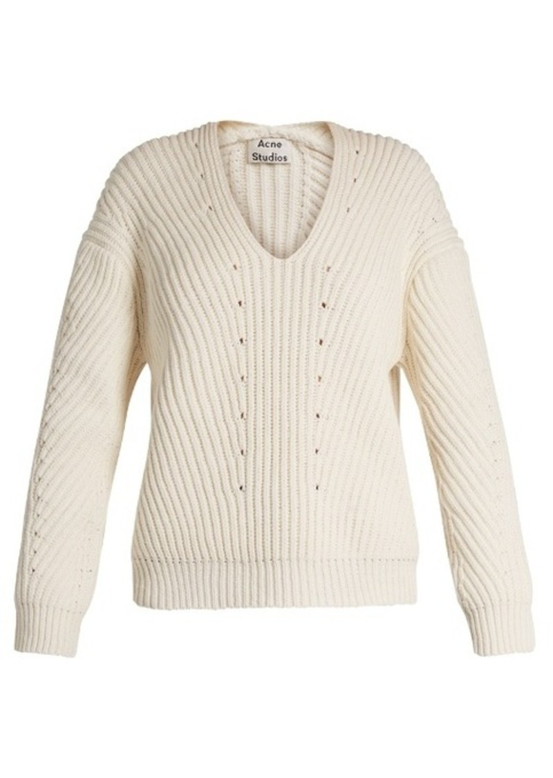 Acne Acne Studios Bernice Chunky cotton-blend sweater | Sweaters ...