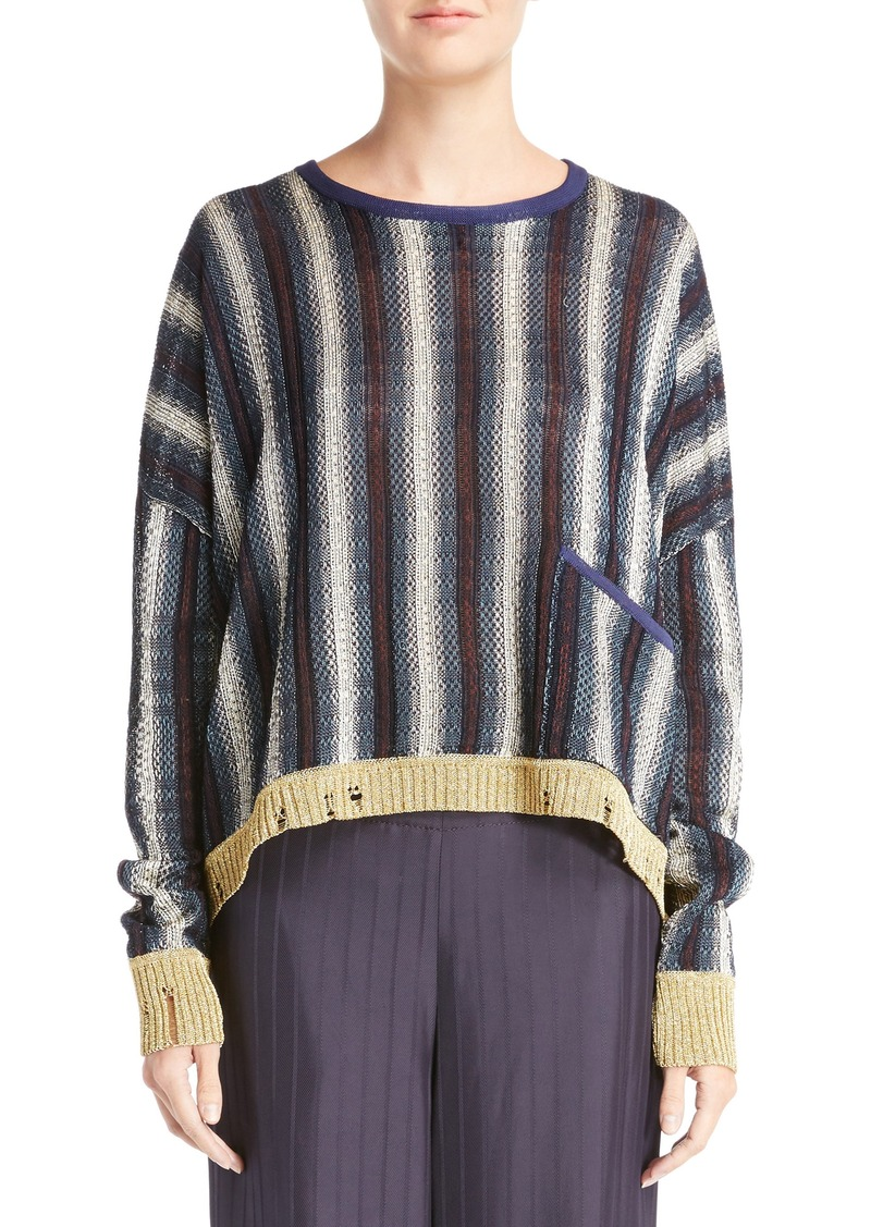 acne acne studios blanca stripe sweater sweaters shop it to me. Black Bedroom Furniture Sets. Home Design Ideas