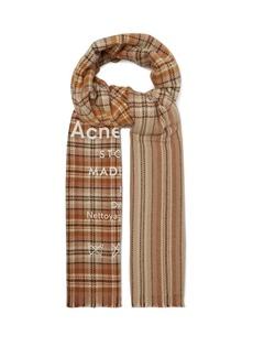 Acne Studios Cassiar Check oversized wool scarf