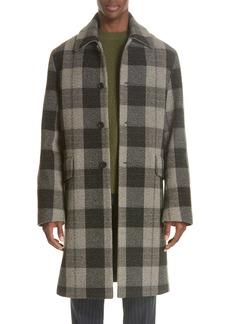 Acne Studios Check Wool Overcoat