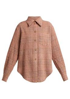 Acne Studios Checked wool-blend bouclé shirt