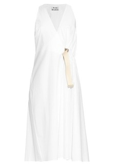 Acne Studios Chen Pop wrap cotton-poplin dress