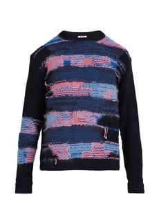 Acne Studios Crewneck cotton-blend knit sweater