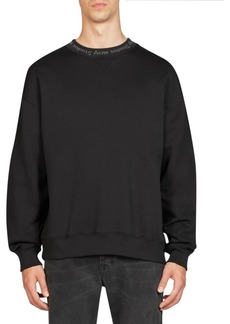 Acne Crewneck Cotton Sweatshirt