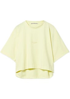 Acne Cylea cropped printed cotton T-shirt