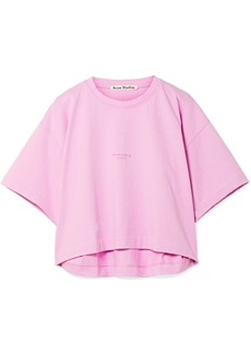 Acne Studios Cylea cropped printed cotton T-shirt