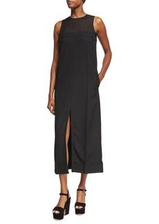 Acne Studios Daran Slit-Front Wool Midi Dress