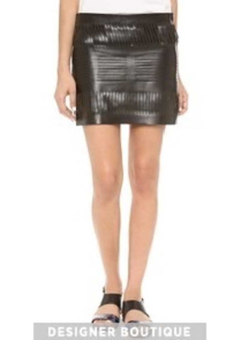 acne acne studios destroyed leather skirt skirts shop