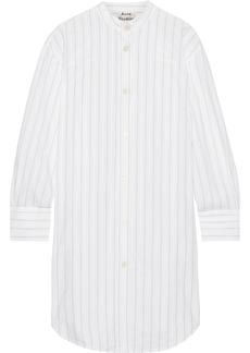 Acne Studios Diede pinstriped cotton-jacquard shirt dress
