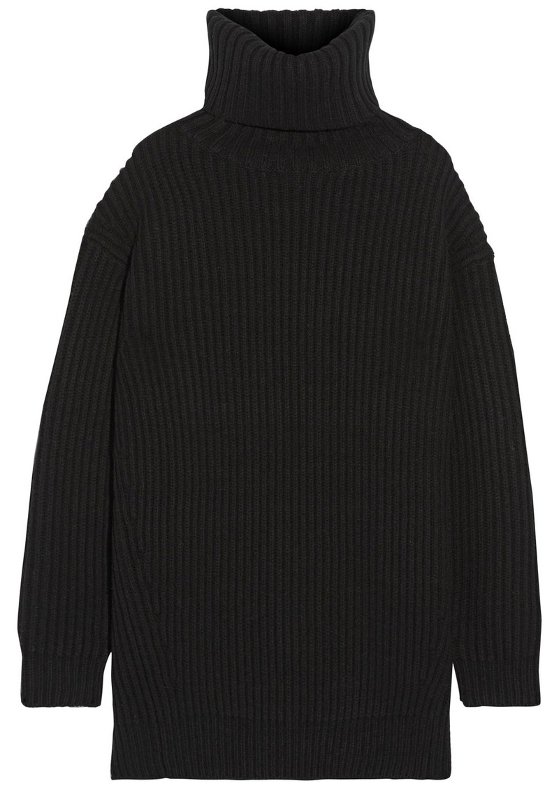 Acne Acne Studios Disa oversized ribbed wool turtleneck sweater ...