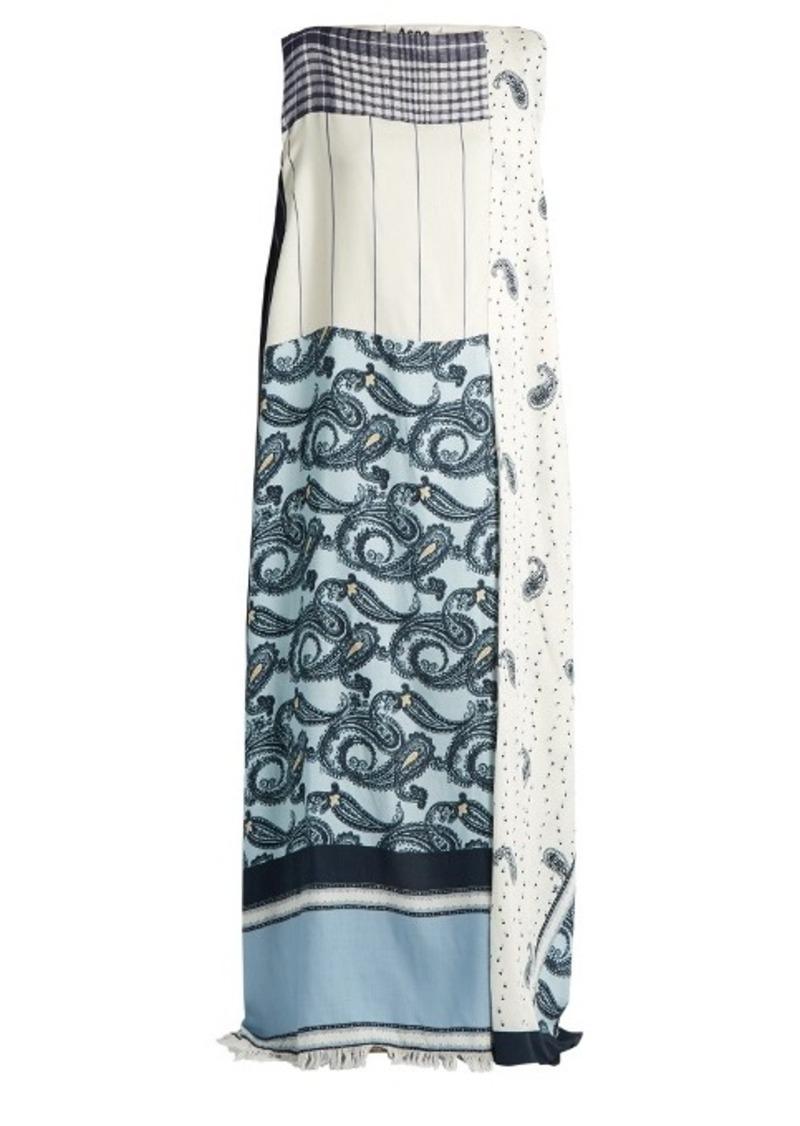 Acne Studios Dulcia paisley-print boat-neck dress