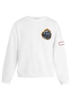 Acne Studios Fire Misty Forest-appliqué cotton sweatshirt
