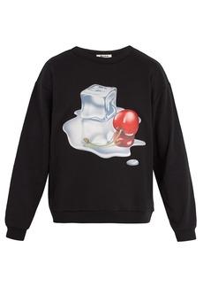 Acne Studios Flames 3-D print cotton sweatshirt
