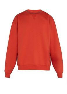 Acne Studios Flogho crew-neck cotton sweatshirt