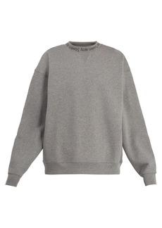 Acne Studios Flogho round-neck cotton sweatshirt