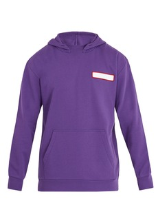 Acne Studios Fog hooded cotton sweatshirt