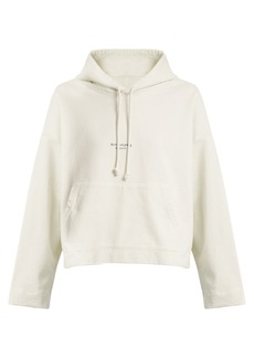 Acne Studios Hooded logo-print cotton-jersey sweater