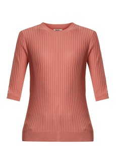 Acne Studios Iza ribbed-knit cotton-blend top