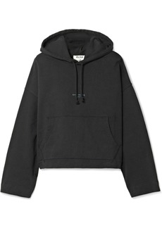 Acne Joggy cropped cotton-jersey hooded top