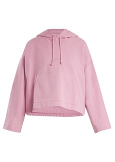 Acne Studios Joghy cotton cropped hooded sweatshirt