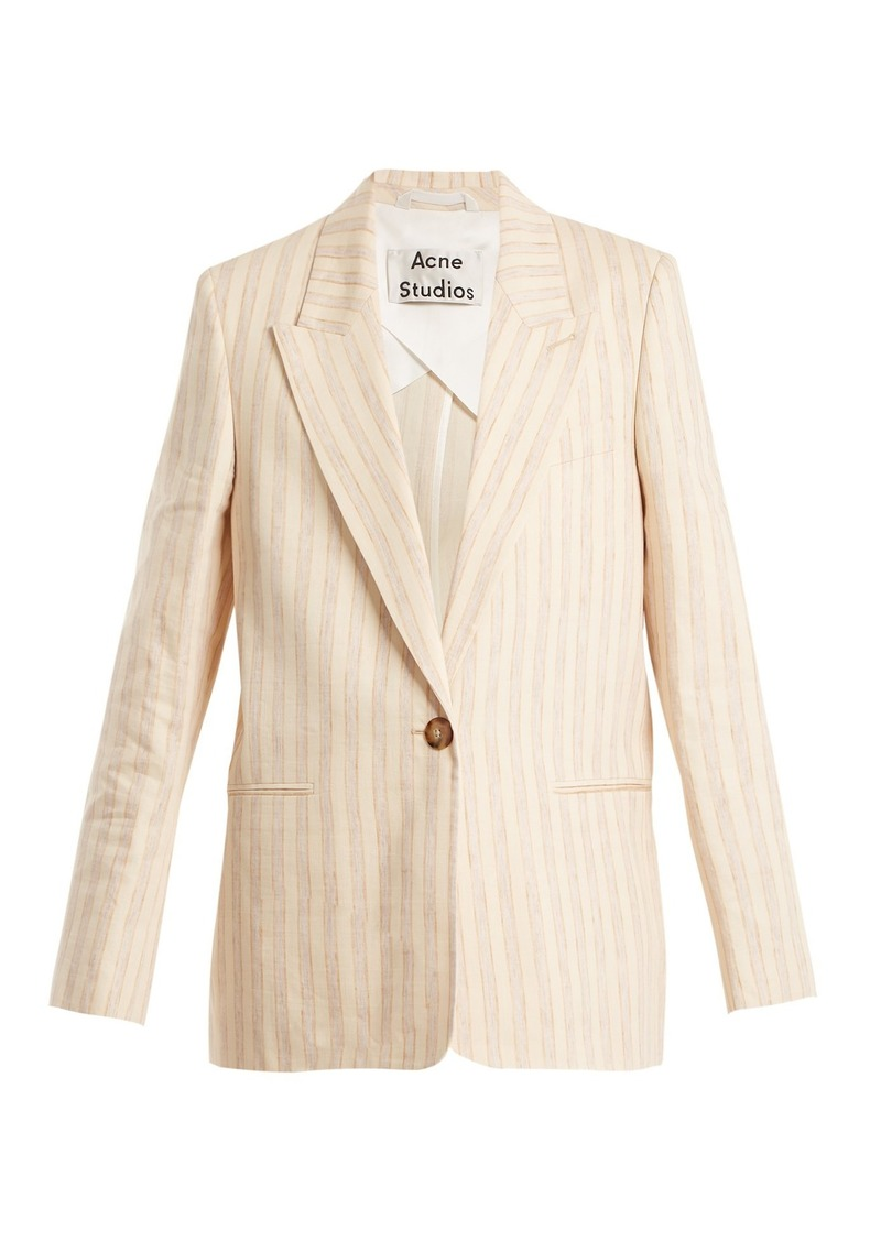 Acne Studios Kristha striped linen-blend blazer
