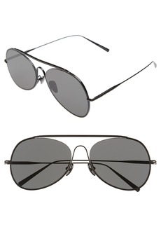 ACNE Studios 'Large Spitfire' 57mm Aviator Sunglasses