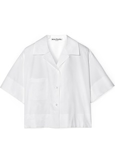 Acne Studios Lelia cropped cotton-poplin shirt