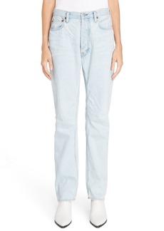 Acne Studios Log Relaxed Leg Jeans (Light Blue)