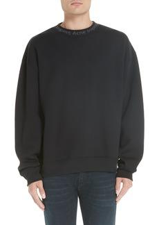 ACNE Studios Logo Collar Oversize Sweatshirt
