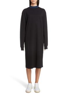 Acne Studios Logo Collar T-Shirt Dress