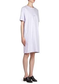Acne Logo Cotton T-Shirt Dress