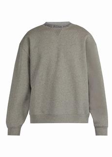 Acne Studios Logo-neck cotton sweatshirt