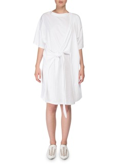 Acne Studios Lylia Faux-Wrap T-Shirt Dress